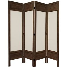 5 1/2 Ft. Tall Solid Frame Fabric Room Divider Burnt Brown Four Panel, Width - 17.25 Inches $278