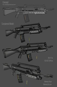 Melina Rose gun 3d