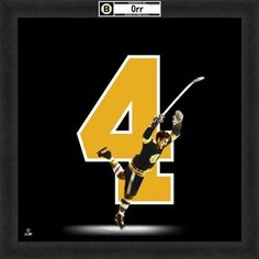"Bobby Orr ""The Goal"" x Uniframe Boston Bruins Players, Boston Bruins Hockey, Sports Images, Sports Art, Sports Trophies, Bobby Orr, Olympic Games Sports, Ice Hockey Teams, Boston Sports"