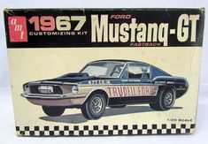 1/25 Scale AMT 1967 Ford Mustang GT Fastback Gene Winfield Model Kit 6167-200 #AMT