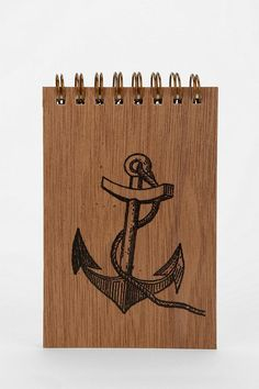 Spitfire Girl Wood Cover Spiral Notepad #huntedandgathered