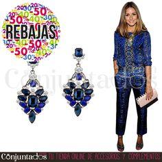 Estos preciosos pendientes son un accesorio elegante que convertirá tu look en un outfit de fiesta con el mínimo esfuerzo ★ REBAJAS en https://www.conjuntados.com/es/pendientes-con-piedras-negras-y-azul-klein.html ★ #novedades #pendientes #earrings #conjuntados #conjuntada #joyitas #lowcost #jewelry #bisutería #bijoux #accesorios #complementos #moda #fashion #fashionadicct #picoftheday #outfit #estilo #style #GustosParaTodas #ParaTodosLosGustos