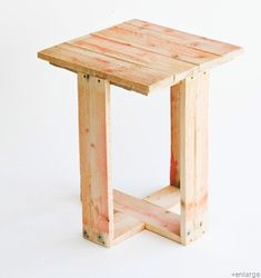 Just finished taking apart a pallet to make a night stand. I like this idea much more than what I had in mind!