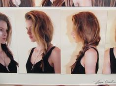A messy side braid