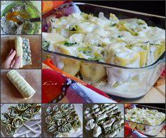 rotolini di lasagne ricotta prosciutto e spinaci