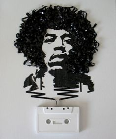 look closely (well, I had to), it's not a drawing! Jimi Hendrix #art