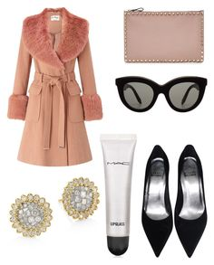 """Untitled #8811"" by ohnadine on Polyvore featuring Valentino, Miss Selfridge, Victoria Beckham, MAC Cosmetics and Plevé"