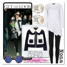 """""""Get The Look x Selena Gomez #4"""" by delunaray on Polyvore featuring Polo Ralph Lauren, Alice + Olivia, Krewe, Golden Goose, Disney, GetTheLook, selenagomez and polyvoreeditorial"""