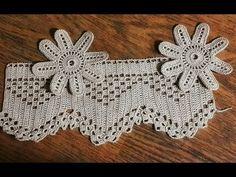 Crochet Doilies, Crochet Stitches, Crochet Top, Crochet Blanket Border, Pintura Country, Knitting, Ideas, Youtube, Towel Bars