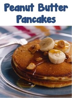 Peanut Butter Pancakes Recipe! {yum!} #breakfast #pancake #recipes