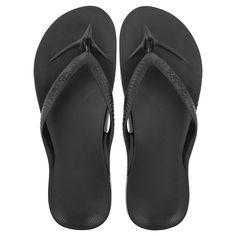 3c3ff3afbc0e0a Archies Arch Support Flip Flops- Black