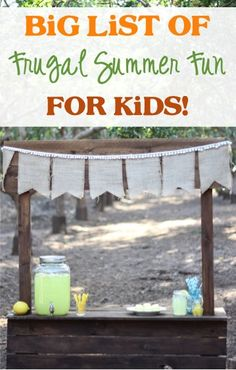 BIG List of Frugal Summer Fun Ideas for Kids from TheFrugalGirls.com