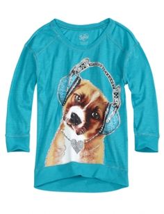 Justice clothing | Embellished Critter Tee | Girls Long Sleeve Tops & Tees | Shop Justice