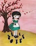 Emily Martin Yoshitomo Nara, Black Apple, Bridges, Fascinator, Snow White, Disney Characters, Fictional Characters, Balloons, Disney Princess
