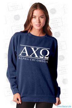 Alpha Chi Omega Letters Crewneck Sweatshirt | The Social Life