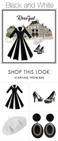 """""""Black and White"""" by jostockton ❤ liked on Polyvore featuring Betmar"""