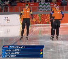 Oranje dames met Olympisch record naar halve finale | Schaatsen