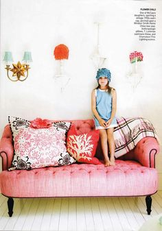 Pink. Couch. PINK COUCH
