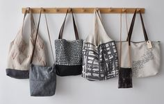 handmade bags via boohoo. inspiration for urban grunge project Handmade Bags, Handmade Felt, Sac Lunch, Slow Design, Bag Display, Linen Bag, Patchwork Bags, Big Bags, Cotton Bag
