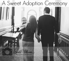 I love this - photo documenting an adoption ceremony. Such a good idea!
