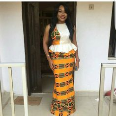 unique ankara designs check out these looks - Reny styles African Dresses For Women, African Print Dresses, African Attire, African Fashion Dresses, African Women, Ankara Fashion, African Outfits, African Prints, Ankara Skirt And Blouse