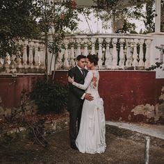 P&K ayer en su boda cargada de emociones.  Vestido @pronovias  Traje @derby1951 En @haciendaazahares