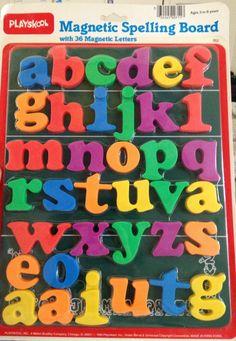 Vintage Playskool Magnetic Spelling Board w/ 36 by NotWantNeed, $22.00