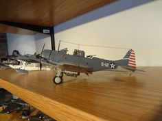 Scale model aircraft - SBD-3 Dive Bomber 1/48 scale Tamiya