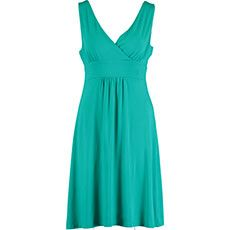 Turquoise V-Neck Flare Dress