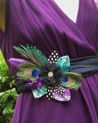 peacock wedding - gorgeous color combo