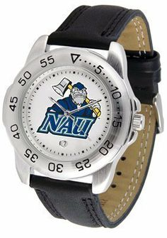 Northern Arizona Lumberjacks Suntime Mens Sports Watch w/ Leather Band - NCAA College Athletics by SunTime. $41.95. A true sports person's watch, the Sport features: a durable rotating timer/bezel, stainless steel finish, scratch resistant crystal, quartz accurate movement, color coordinated leather strap, date function and a big, bold California State (Northridge) Matadors team logo on the dial. Wear it to a game, while watching a game or just to show off your NCAA pride wherev...