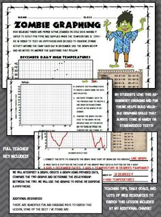 Graphing Stations: Middle School Science NGSS Aligned Graphing ...