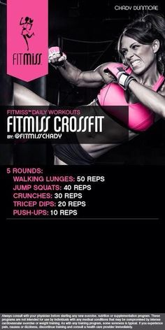 FitMiss CrossFit Workout of the Day