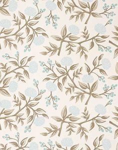 Rifle Paper Co. for Hygge & West - Peonies Wallpaper in Pale Blue - Wallpaper - Walls
