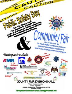 Join us @ County Fair Mall for our Community Resource & Public Safety Fairs Friday & Saturday, Oct. 18 & 19 10am-6pm