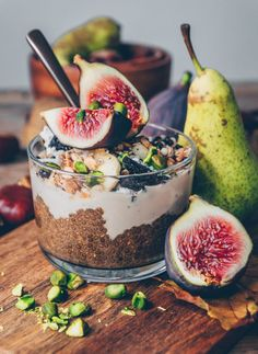 Earl Grey Chia Parfait w/ Coconut blossom sugar yogurt!
