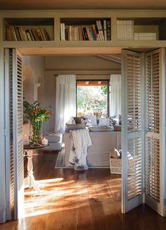 great idea for room divider between bedroom and bathroom