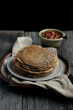 Maple Buckwheat Crepes with Spiced Apple + Chestnut Relish #vegan #glutenfree #recipe ⎮ happy hearted kitchen