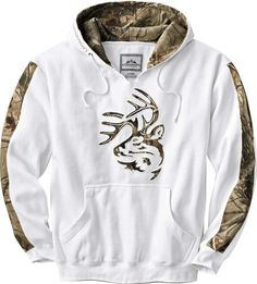 Legendary Whitetails Outfitter Hoodie - Deer gear hooded sweatshirt Antler White. One of Dakota's new sweatshirts that I already stole from him. Comfy pajamas. ♥