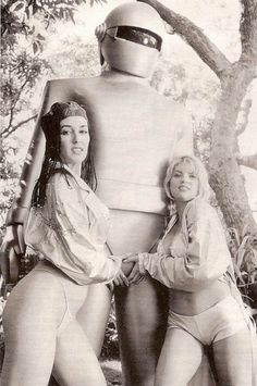 """fuckyeahgeekgirls: """" """" Gort's a playah! Remember Ladies, the safe word is Klaatu Barada Nikto. Image courtesy of Retrogasm """" Thanks for the submission, erikjohnsonillustrator! """""""
