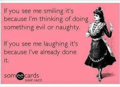 I'm smiling in between laughs :)