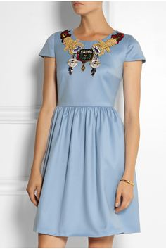 Mary Katrantzou | Julie embellished wool-gabardine mini dress | NET-A-PORTER.COM
