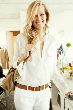 I just love white and camel together! #cuteoutfit #style #fashion #white #girly #preppy #camel