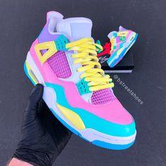 Jordan Shoes Girls, Girls Shoes, Shoes Women, Nike Air Jordan, Jordan 4, Jordan Tenis, Sneakers Nike Jordan, Tenis Nike Air, Custom Painted Shoes