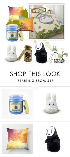 """Studio ghibli"" by spacecatcosmo ❤ liked on Polyvore featuring interior, interiors, interior design, home, home decor, interior decorating, Ghibli, Dot & Bo, cute and howlsmovingcastle"