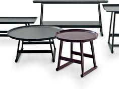 Lacquered round oak coffee table Recipio Collection by Maxalto, a brand of B&B Italia Spa   design Antonio Citterio