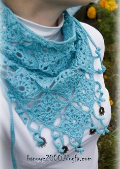 Crochet scarf, really easy  ♥LCPT♥ with diagram and picture instructions