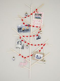 Wooden tree for Christmas cards!
