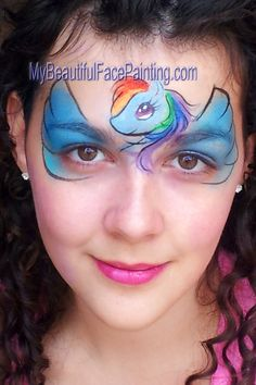 Face Painting My Little Pony Rainbow Dash