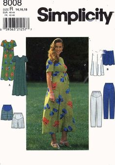 Simplicity 8008 Maternity Separates Dress Jumper by ScarletBubbles
